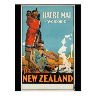 """Cartão Postal De """"MAI Haere (boa vinda) poster de viagens de"""