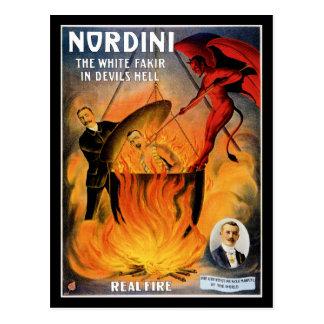 Cartão Postal ~ de Nordini o Fakir branco no inferno do diabo