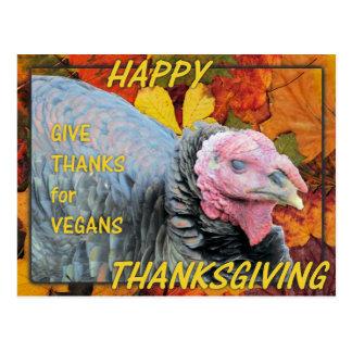 Cartão Postal Dê obrigados para Vegans