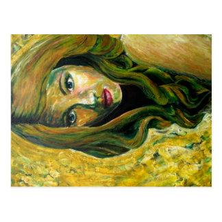 "Cartão Postal De ""pintura acrílica de Bella do la Remedios"" -"