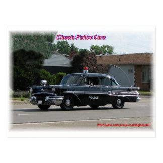 Cartão Postal De Pontiac Laurentian carro 1957 de polícia