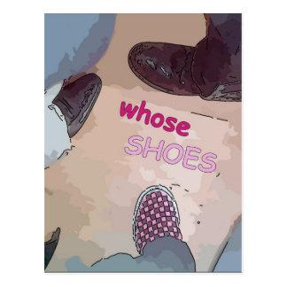 Cartão Postal De quem calçados