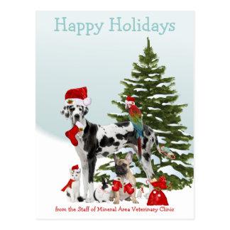 Cartão Postal De seus animais de estimação veterinários do papai