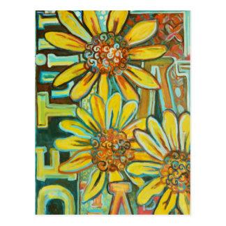 Cartão Postal De Tuin, produtos da arte do girassol
