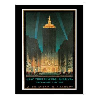 """Cartão Postal De """"vintage da construção central New York"""""""