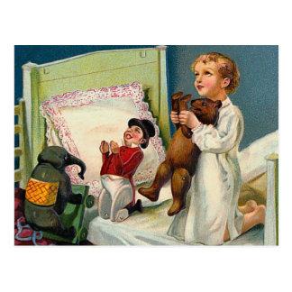 """Cartão Postal De """"vintage da manhã Natal"""""""