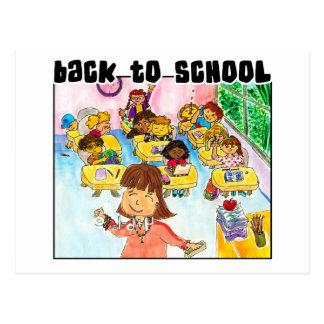 Cartão Postal De volta à sala de aula da escola