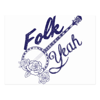 Cartão Postal De Wellcoda dos povos batida do banjo da vida da