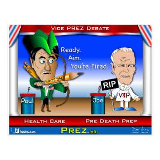 Cartão Postal Debate 2 de VP