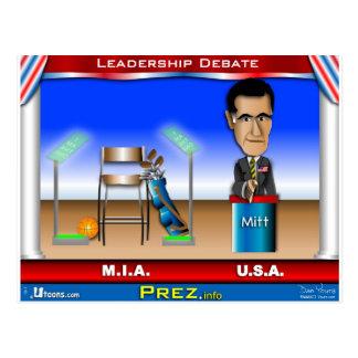 Cartão Postal Debate da liderança