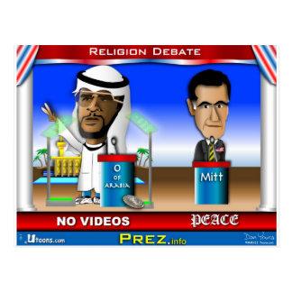Cartão Postal Debate da religião