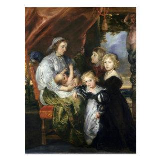 Cartão Postal Deborah Kip e suas crianças