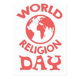 Cartão Postal Décimo oitavo janeiro - dia da religião do mundo