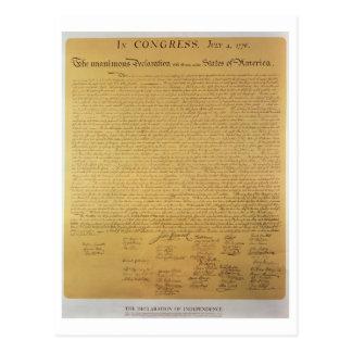 Cartão Postal Declaração de independência