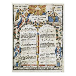 Cartão Postal Declaração dos direitos do homem e do Citize
