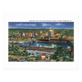 Cartão Postal Declive de Shannon do castelo, Pittsburgh, PA