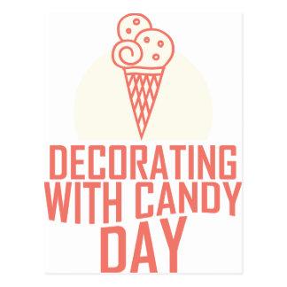 Cartão Postal Decoração com dia dos doces - dia da apreciação