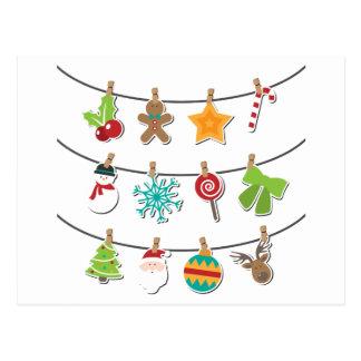Cartão Postal Decoração de suspensão do Xmas do Natal bonito