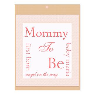 Cartão Postal Decoração do chá do bloco do bebê