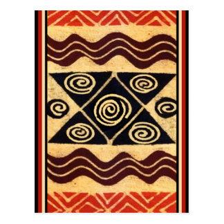 Cartão Postal Decoração Primordial africana