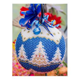 Cartão Postal decorações para a árvore de Natal