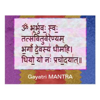 Cartão Postal Dedicação à mantra de GAYATRI - fundo artístico