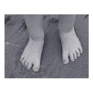 Cartão Postal Dedos do pé pequenos