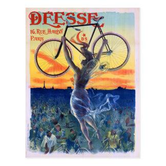 Cartão Postal Déesse dá um ciclo o poster 1898 da propaganda do