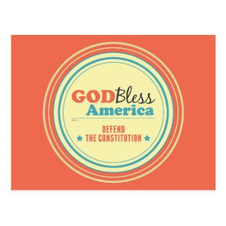 Cartão Postal Defenda a constituição