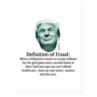 Cartão Postal Definição da fraude - TRUNFO