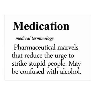 Cartão Postal Definição da medicamentação