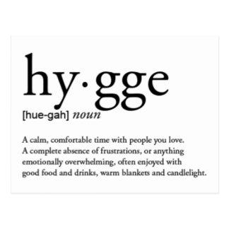 Cartão Postal Definição de Hygge