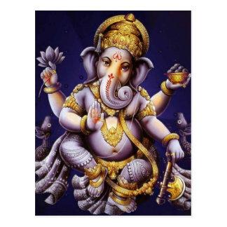 Cartão Postal Deidade Hindu do elefante asiático de Ganesh