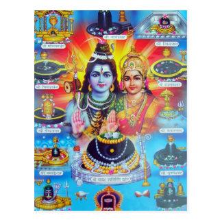 Cartão Postal Deidades Hindu e deusas bonitas