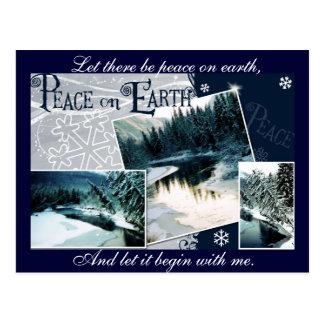 Cartão Postal Deixado haja uma paz na terra