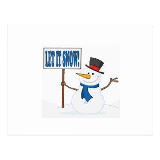 Cartão Postal Deixado o neve 2