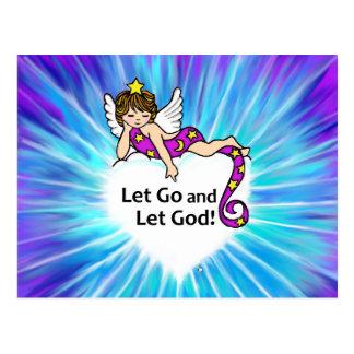 Cartão Postal Deixado vá deixar o deus