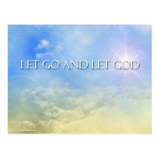 Cartão Postal Deixado vá deixar o deus - céu