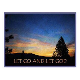 Cartão Postal Deixado vá deixar o nascer do sol do deus