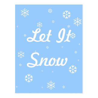 Cartão Postal Deixais lhe para nevar