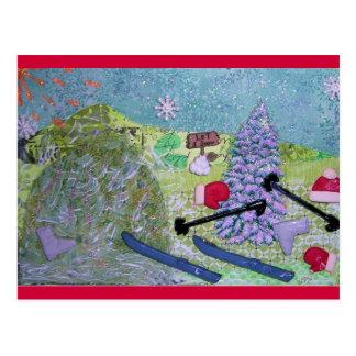 Cartão Postal Deixais lhe para nevar colagem