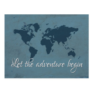 Cartão Postal Deixe a aventura começar
