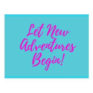 Cartão Postal Deixe aventuras novas começar