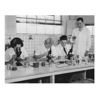 Cartão Postal Deixe-nos fazer a ciência - foto do vintage