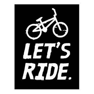 Cartão Postal Deixe-nos montar o humor do ciclista da cidade e