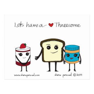Cartão Postal Deixe-nos ter um threesome!