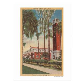 Cartão Postal Deland, Florida - vista da universidade de Stetson
