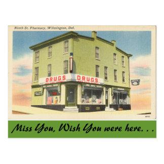 Cartão Postal Delaware, 9a farmácia do St.