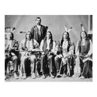 Cartão Postal Delegação de chefes de Sioux, conduzida pela nuvem