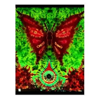 Cartão Postal Delírio da borboleta